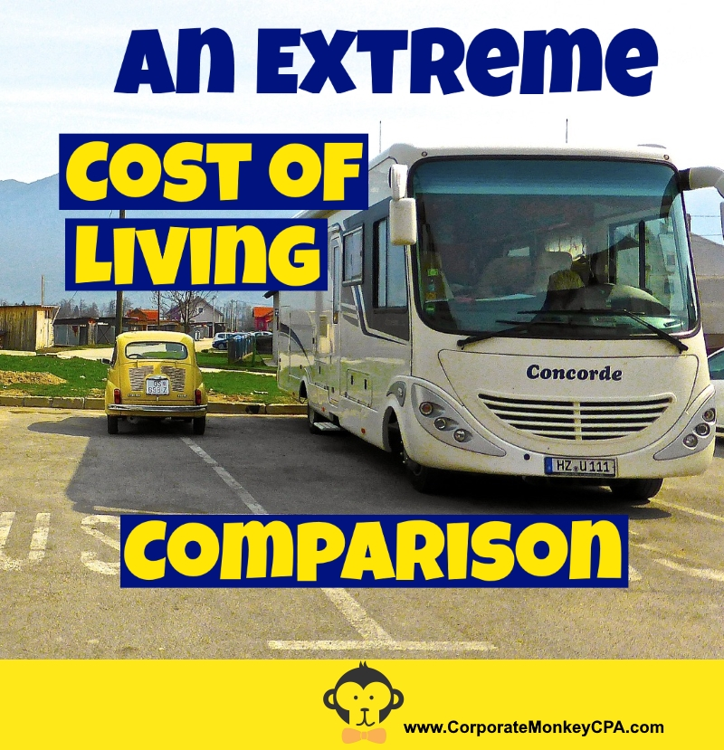 An extreme cost of living comparison corporate monkey cpa Southern living change of address